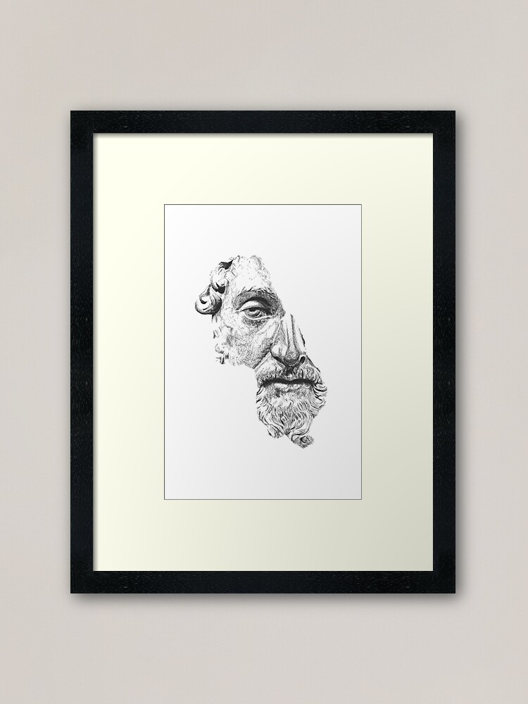 Alternative Ansicht von MARCUS AURELIUS ANTONINUS AUGUSTUS / black and white Gerahmter Kunstdruck