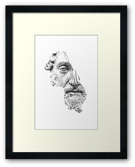 MARCUS AURELIUS ANTONINUS AUGUSTUS / black and white von Daniel Coulmann