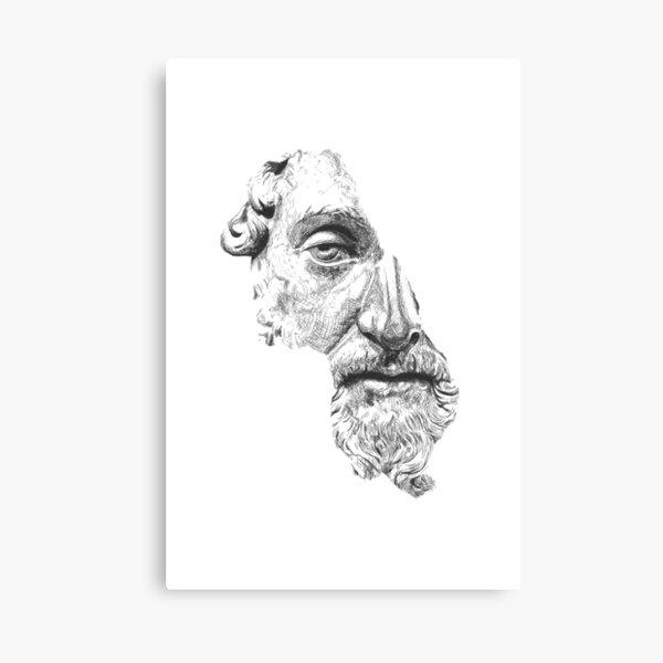 MARCUS AURELIUS ANTONINUS AUGUSTUS / black and white Canvas Print