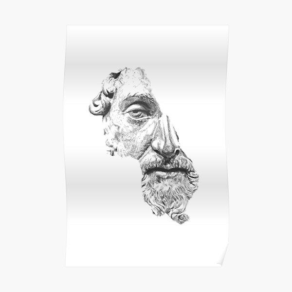MARCUS AURELIUS ANTONINUS AUGUSTUS / black and white Poster