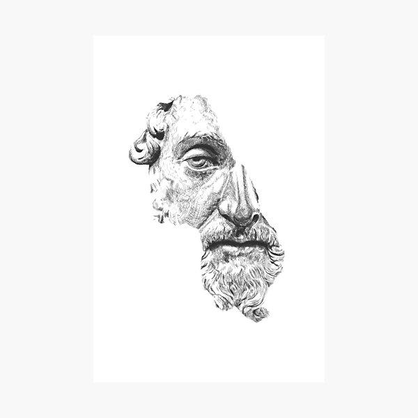 MARCUS AURELIUS ANTONINUS AUGUSTUS / black and white Photographic Print