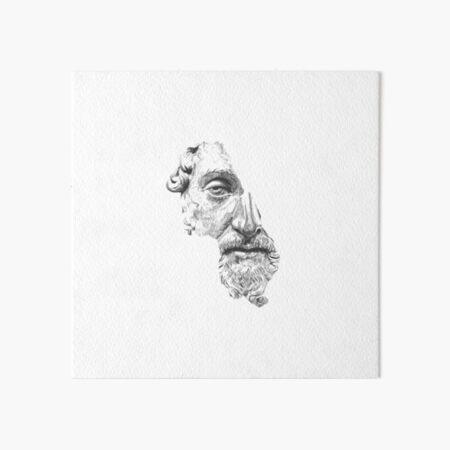 MARCUS AURELIUS ANTONINUS AUGUSTUS / black and white Art Board Print