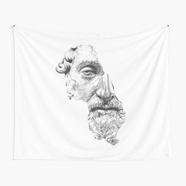 MARCUS AURELIUS ANTONINUS AUGUSTUS / black and white Tapestry
