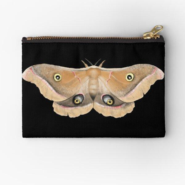 Giant Silk Moth Illustration Zipper Pouch