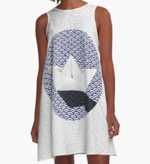 Origami boat japanese pattern A-Line Dress