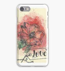 Rozenbottel bloem iPhone Case/Skin