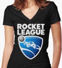 Rocket League Design Women's Fitted V-Neck T-Shirt