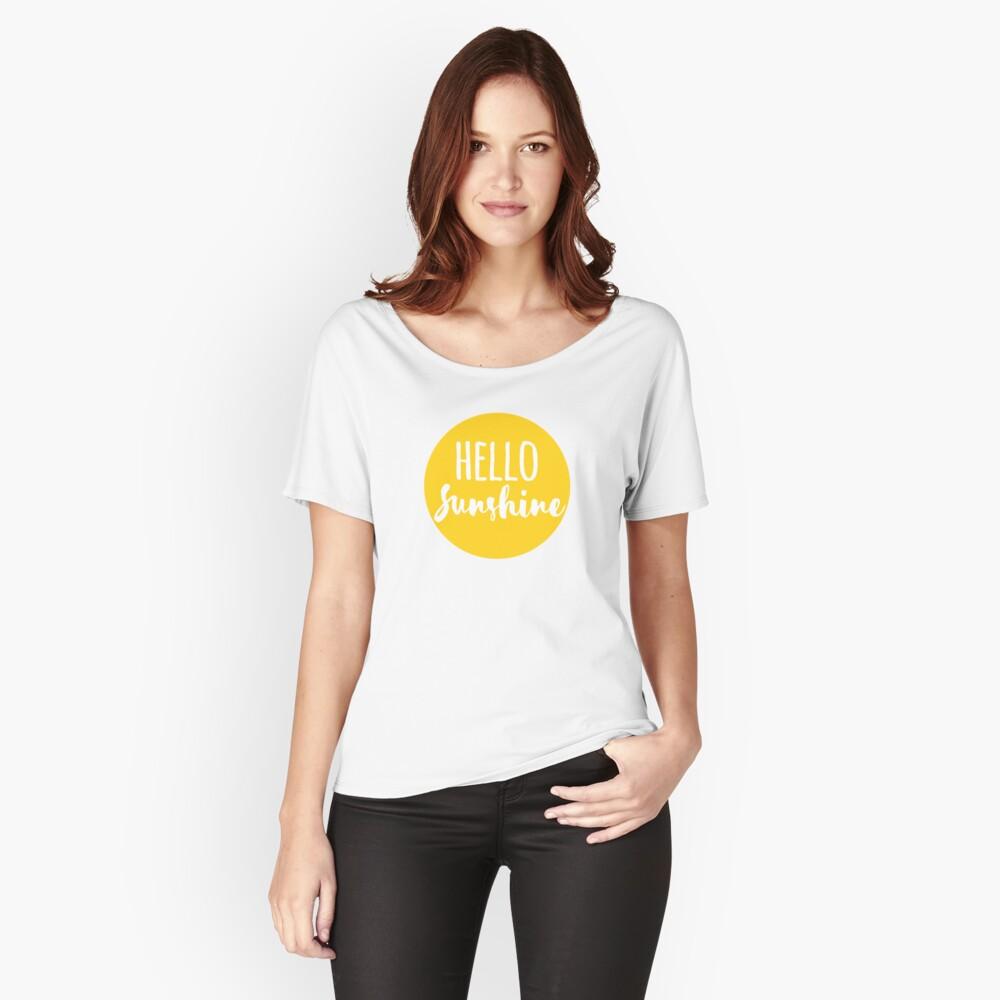 Hola Luz de sol Camiseta ancha