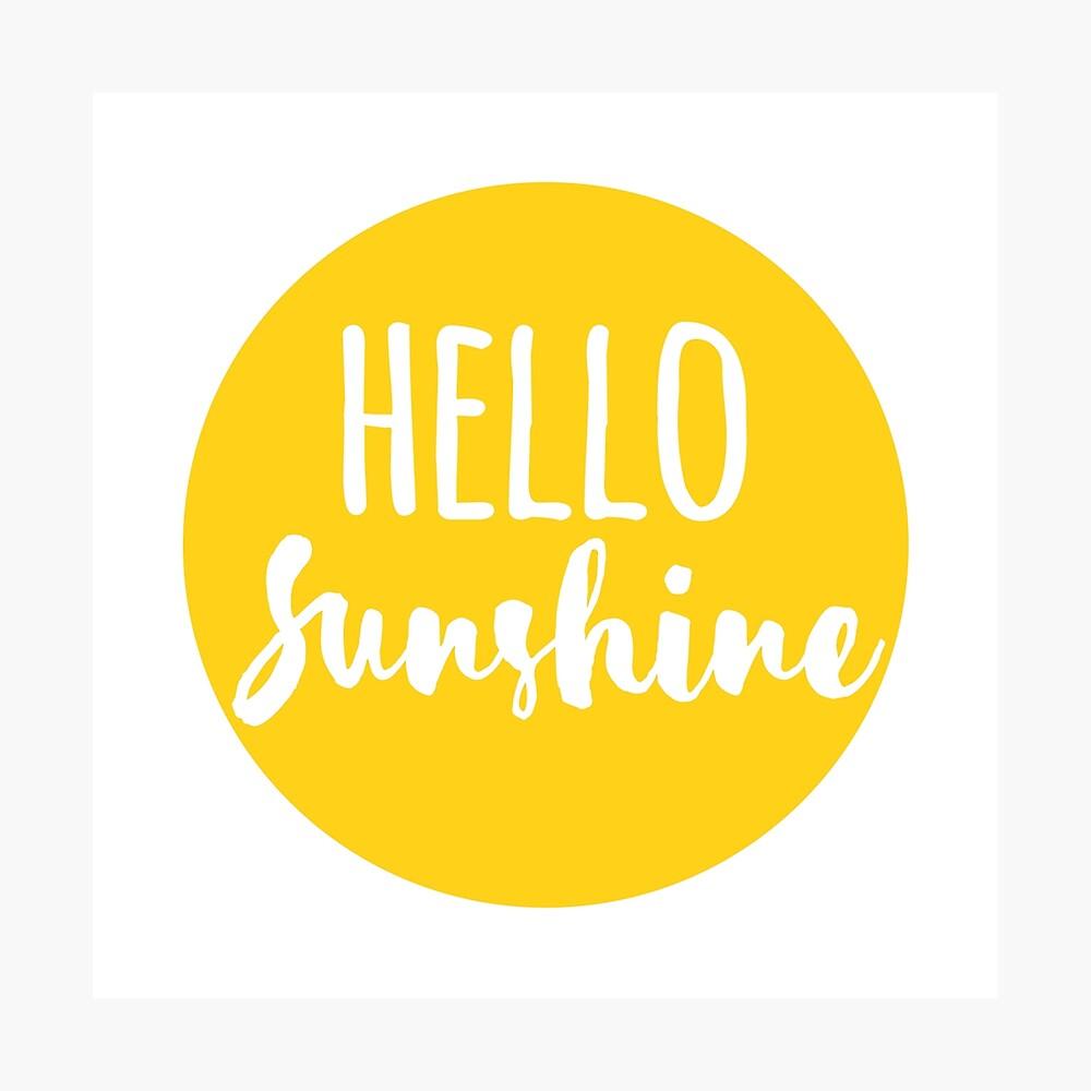 Hola Luz de sol Lámina fotográfica