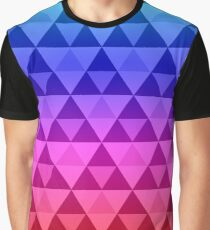 Rainbow Tri-Pattern Graphic T-Shirt