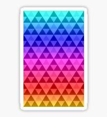 Rainbow Tri-Pattern Sticker