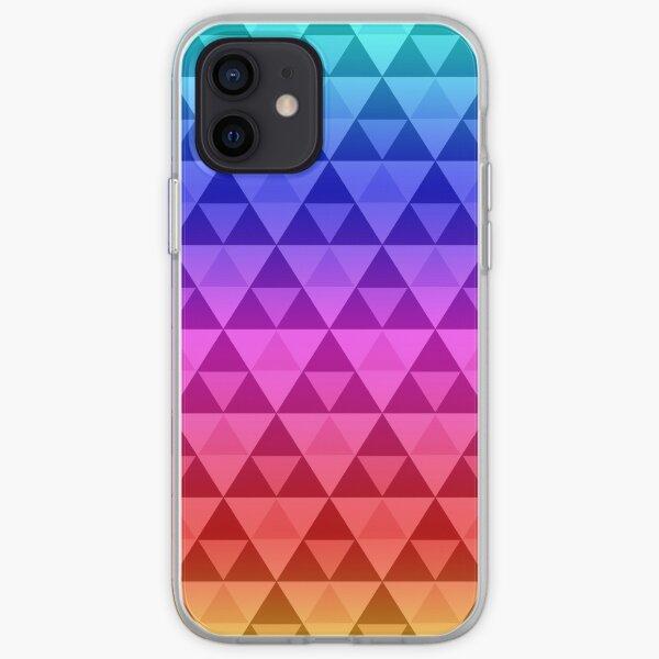 Rainbow Tri-Pattern iPhone Soft Case