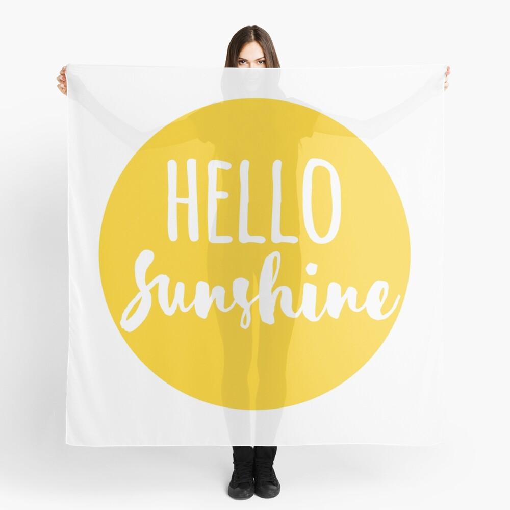 Hola Luz de sol Pañuelo