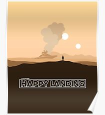 """""""Another Happy Landing"""" Star Wars Prequel Memes Poster"""