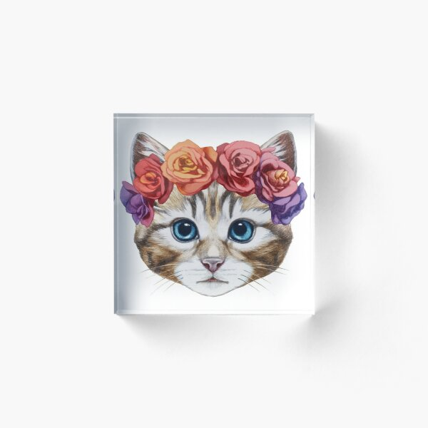 Kitten Acrylic Block