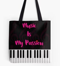 Music Is My Passion : #F Tote Bag