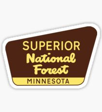 SUPERIOR NATIONAL FOREST SIGN MINNESOTA FISHING HIKING CAMPING Sticker