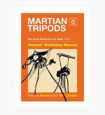 Owners Manual - HG Wells Martian Tripod Art Print