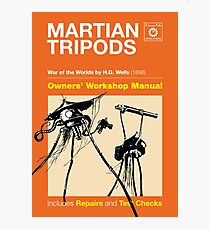 Owners Manual - HG Wells Martian Tripod Photographic Print