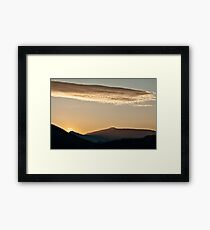Sunset in the mountain landscape Framed Print