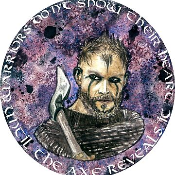 Watercolor Floki quote. by Darkynere