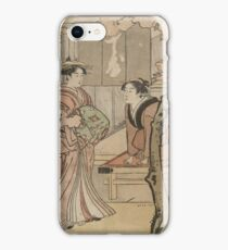 Cherry blossom viewing - Japanese pre 1915 Woodblock Print iPhone Case/Skin