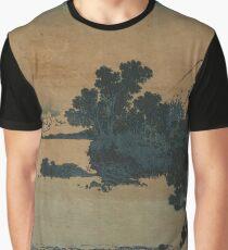 Mount Fuji Scene - Japanese pre 1915 Woodblock Print Graphic T-Shirt
