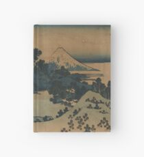 Mount Fuji Scene - Japanese pre 1915 Woodblock Print Hardcover Journal