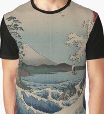 Sea at Satta in Suruga Province - Japanese pre 1915 Woodblock Print Graphic T-Shirt