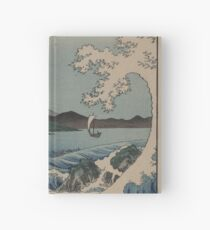 Sea at Satta in Suruga Province - Japanese pre 1915 Woodblock Print Hardcover Journal