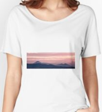 Magenta sunset in the mountain landscape Women's Relaxed Fit T-Shirt