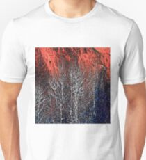 White Trees & Red Rocks at Roxborough  by Lena Owens Unisex T-Shirt