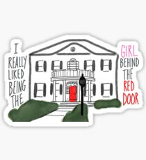 Girl Behind The Red Door Sticker
