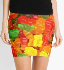 colorful sweet tooth foodie candy gummy bear  Mini Skirt