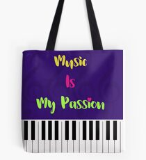 Music Is My Passion : #G Tote Bag