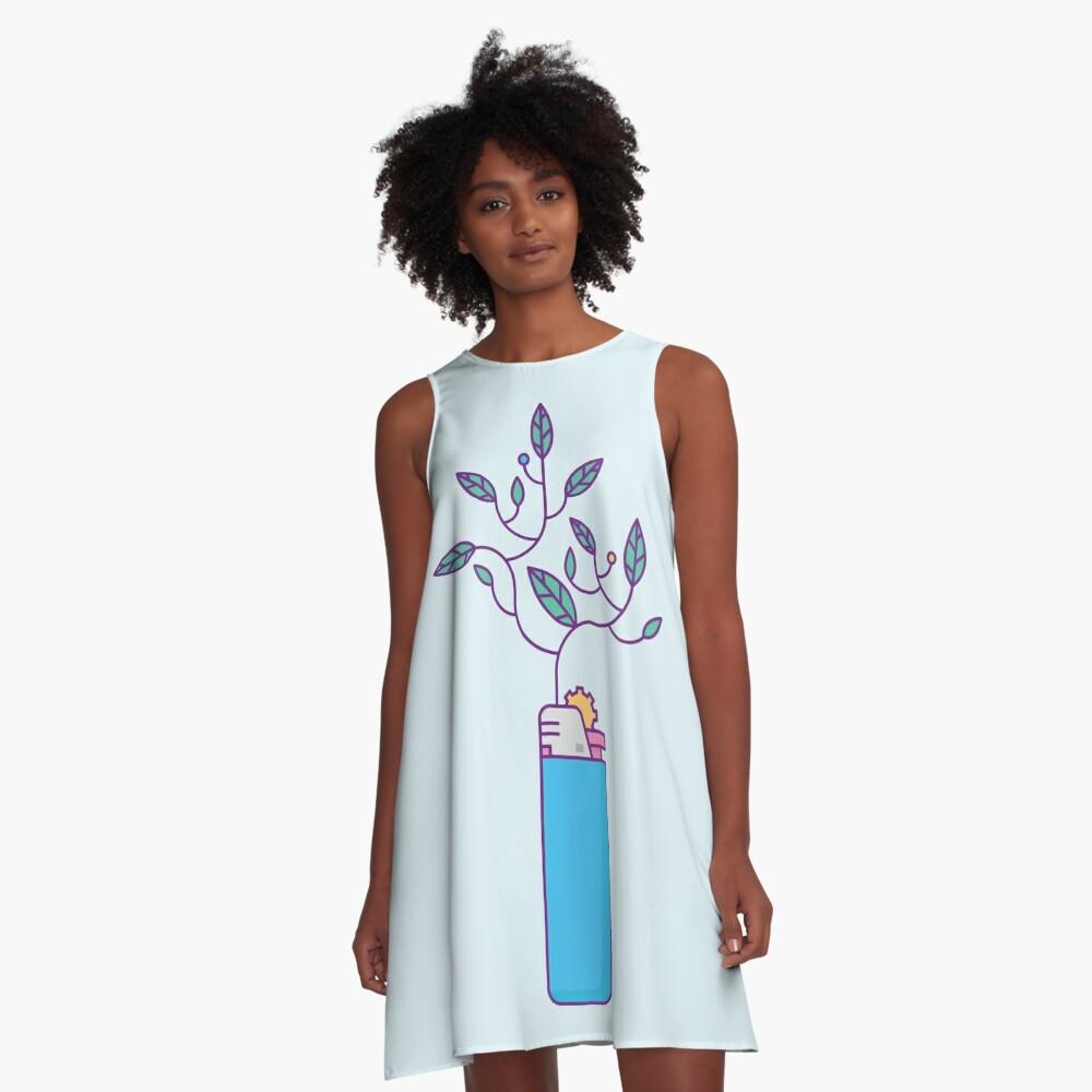 Growing Flame A-Line Dress