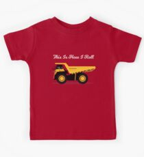 This Is How I Roll - Rock Truck Design Kids Tee