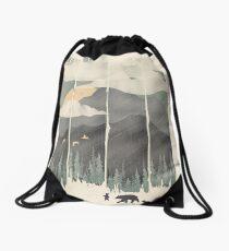 Spring Mountain Weather Drawstring Bag