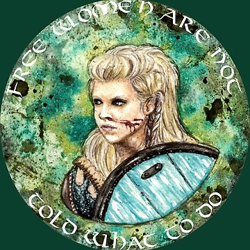 Watercolor Lagertha quote by Darkynere