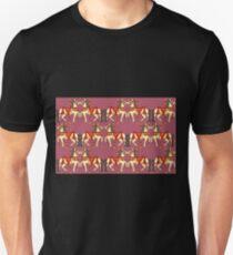 Prancing Carouselle ponies-pink Unisex T-Shirt