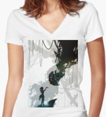 Portal GladOS Women's Fitted V-Neck T-Shirt