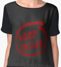 Beer inside red Carbon Chiffon Top