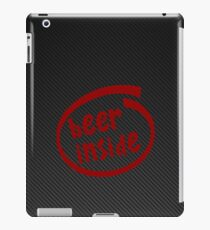 Beer inside red Carbon iPad Case/Skin