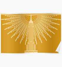 Empire State Building in Gold Poster