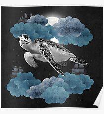 Oceanic Sky - Sea Turtle Poster