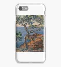 A View of a Bay at Agay, Armand Guillaumin (1841 – 1927) (Art Paintings) iPhone Case/Skin