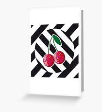 Disco cherry Greeting Card