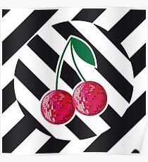 Disco cherry Poster