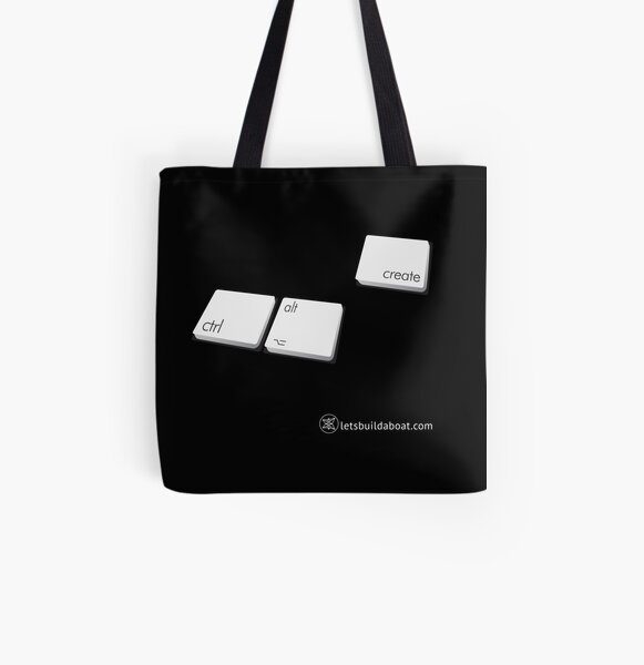 Ctrl-Alt-Create All Over Print Tote Bag
