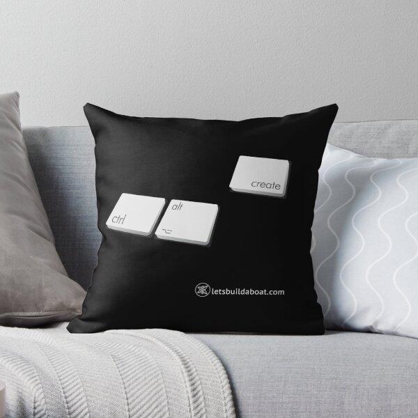 Ctrl-Alt-Create Throw Pillow